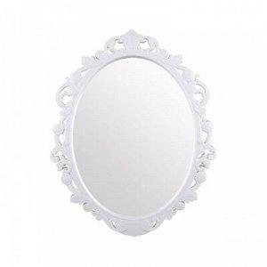 Зеркало Зеркало  [АЖУР] 58,5*47,0*2,5см БЕЛЫЙ. Зеркало имеет овальную  форму и глянцевую раму, имитирующую ажурные узоры. Зеркало имеет три цветовых решения, благодаря которым, оно подойдет как для  в