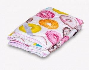 Одеяло Хлопок поплин 140*205 (Пончики)