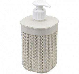 Диспенсер Диспенсер [ВЯЗАНИЕ] БЕЛЫЙ РОТАНГ. Предлагаем Вашему вниманию диспенсер для мыла ВЯЗАНИЕ!  Необходимая вещь в ванной комнате для всех, кто ценит настоящий комфорт, порядок и красоту  Если Вы
