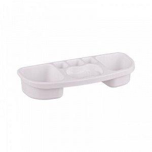 Полка Полка на ванну. Полка для ванной комнаты идеально подойдет для размещения ванных принадлежностей в ванной комнате. Конструкция  полки  имеет два отсека для средств, отсек для мыла и  зубных щето