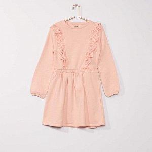 Платье-толстовка из мольтона - розовый