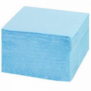 Салфетки бумажные 250 шт., 24х24 см, LAIMA/ЛАЙМА, синие (пастельный цвет), 100% целлюлоза, 111951