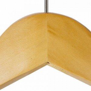"""Вешалка-плечики, размер 48-50, деревянная, анатомическая, перекладина, цвет сосна, BRABIX """"Люкс"""", 601163"""