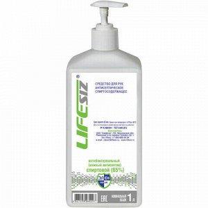 Антисептик для рук спиртосодержащий (65%) с дозатором 1л ЭЛЕН, жидкость
