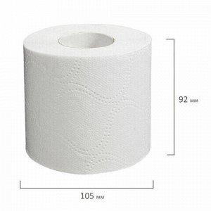 Бумага туалетная бытовая, спайка 24 шт., 2-х слойная, (24х18,5 м), LAIMA/ЛАЙМА, белая, 128719