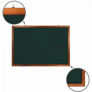 Доска для мела магнитная 100х150 см, зеленая, деревянная окрашенная рамка, Россия, BRAUBERG, 236894