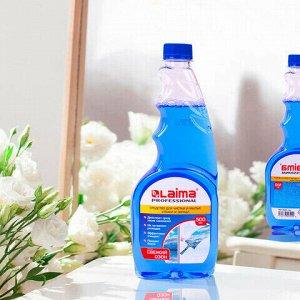 Средство для мытья стекол и зеркал 500 мл LAIMA PROFESSIONAL, сменный блок, 606739