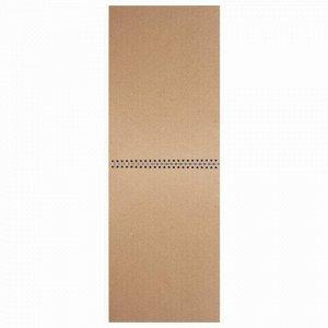 Скетчбук, крафт-бумага 80г/м2, 205х290мм, 50л, гребень, жёсткая подложка, BRAUBERG ART DEBUT,110982