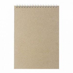 Скетчбук, белая бумага 100г/м2, 145х205мм, 50л, гребень, жёсткая подложка, BRAUBERG ART DEBUT,110987