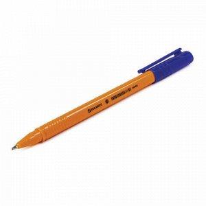 """Ручка шариковая BRAUBERG """"Solar"""", СИНЯЯ, трехгранная, корпус оранжевый, узел 1 мм, линия письма 0,5 мм, 142402"""