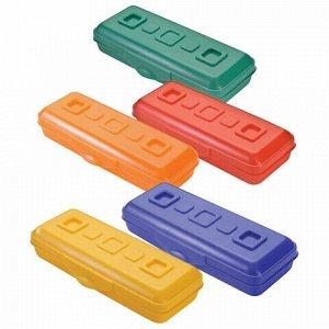 """Пенал СТАММ """"Премиум"""", пластиковый, непрозрачный, цвет ассорти, ПН14"""