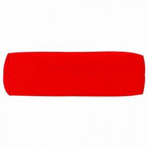 Пенал-тубус ПИФАГОР на молнии, текстиль, красный, 20х5 см, 104387