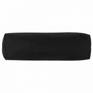Пенал-тубус ПИФАГОР на молнии, текстиль, черный, 20х5 см, 104390