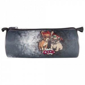 "Пенал-тубус, печать на ткани, ""Cool Dog"", 20х9 см, ПТ-02"