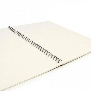 Скетчбук, слоновая кость 150г/м2, 297х420мм, 30л, гребень, BRAUBERG ART CLASSIC, 128946