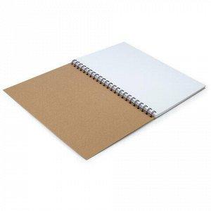 Скетчбук, белая бумага 150г/м2, 210х297мм, 30л, гребень, BRAUBERG ART CLASSIC,128949