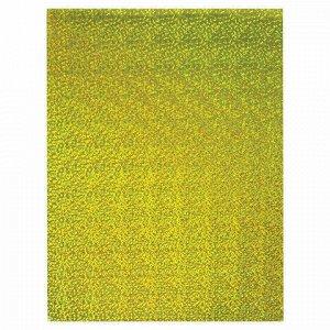 """Картон цветной А4 ГОЛОГРАФИЧЕСКИЙ, 8 листов 8 цветов, 230 г/м2, """"ЗОЛОТОЙ ПЕСОК"""", BRAUBERG, 124755"""