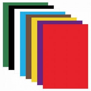 """Картон цветной А4 немелованный (матовый), 8 листов 8 цветов, в папке, BRAUBERG, 200х290 мм, """"Дельфин"""", 129909"""