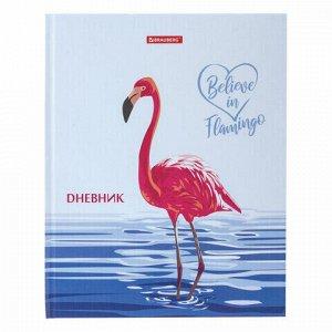"""Дневник 1-11 класс 40 л., твердый, BRAUBERG, глянцевая ламинация, """"Фламинго"""", 105551"""