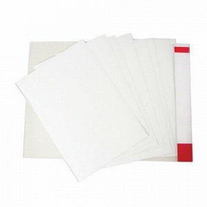 Картон белый БОЛЬШОГО ФОРМАТА, А2 МЕЛОВАННЫЙ (глянцевый), 10 листов, в папке, BRAUBERG, 400х590 мм, 124764
