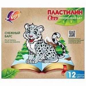 """Пластилин классический ЛУЧ """"Zoo"""", 12 цветов, 180 г, картонная коробка, 29C 1722-08"""