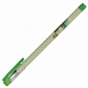 """Ручка шариковая BRUNO VISCONTI """"HappyWrite"""", СИНЯЯ, """"Щенок с зонтиком"""", узел 0,5 мм, линия письма 0,3 мм, 20-0215/10"""