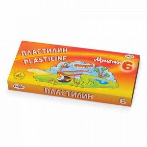 """Пластилин классический ГАММА """"Мультики"""", 6 цветов, 120 г, со стеком, картонная упаковка, 280015/281015, 280015,281015"""