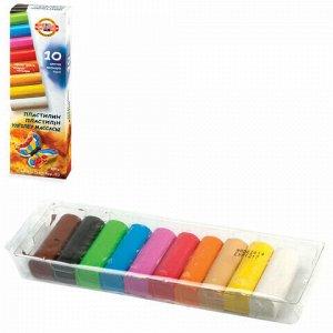 """Пластилин классический KOH-I-NOOR """"Бабочка"""", 10 цветов, 200 г, картонная упаковка, 131710, 013171000000RU"""