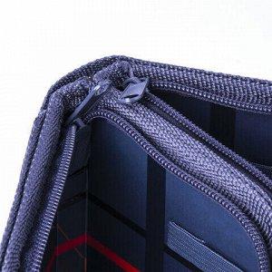 Пенал BRAUBERG, 2 отделения, металлизированный картон, конгрев, 19х11 см, Машина, 103700