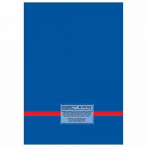 Книга канцелярская 80 л., клетка, твердая, глянцевая, блок офсет, А4 (215х295 мм), BRAUBERG, 130065