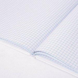 Книга учета 80 л., клетка, твердая, глянцевая, блок офсет, А4 (200х290 мм), BRAUBERG/STAFF, 130071