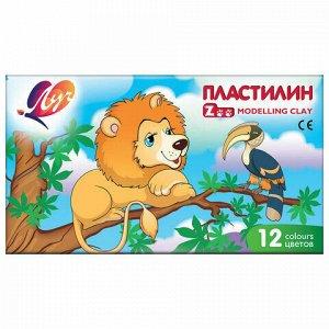 """Пластилин классический ЛУЧ """"Zoo"""", 12 цветов, 162 г, картонная коробка, 19С 1272-08"""