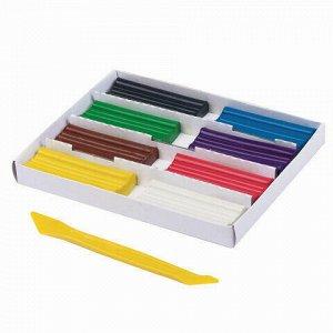 """Пластилин классический ПИФАГОР """"ЭНИКИ-БЕНИКИ"""", 8 цветов, 120 г, со стеком, картонная упаковка, 104821"""