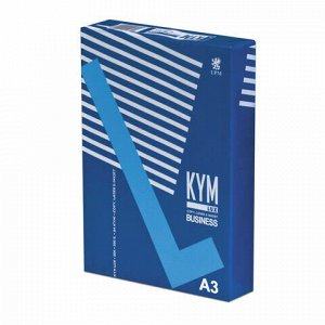 Бумага офисная KYM LUX BUSINESS, БОЛЬШОГО ФОРМАТА (297х420 мм), А3, 80 г/м2, 500 л., марка В, белизна 164%