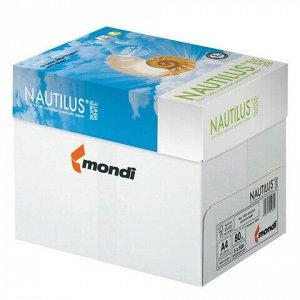 Бумага офисная NAUTILUS SUPER WHITE, RECYCLED, А4, 80 г/м2, 500 л., марка А, Mondi, белизна 150%
