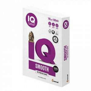 """Бумага IQ SMOOTH, А4, 100 г/м2, 500 л., класс """"А+"""", Австрия, белизна 170% (CIE)"""