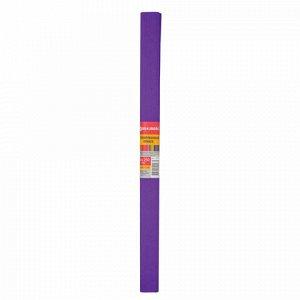 Бумага гофрированная (креповая) ПЛОТНАЯ, 32 г/м2, фиолетовая, 50х250 см, в рулоне, BRAUBERG, 126533