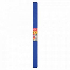 Бумага гофрированная (креповая) ПЛОТНАЯ, 32 г/м2, синяя, 50х250 см, в рулоне, BRAUBERG, 126535