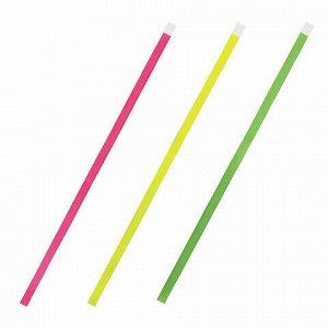 """Закладки-ляссе """"НЕОН"""" для книг А4 (длина 38 см) ПИФАГОР, клейкий край, 3 ленты, 111646"""
