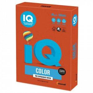 Бумага цветная IQ color, А4, 80 г/м2, 500 л., интенсив, красный кирпич, ZR09
