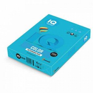 Бумага цветная IQ color, А4, 80 г/м2, 500 л., интенсив, светло-синяя, AB48