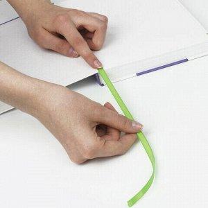 """Закладки-ляссе """"ПОЗИТИВ"""" для книг А5 (длина 28 см) ПИФАГОР, клейкий край, 4 ленты, 111649"""