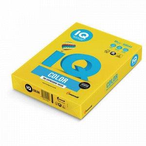 Бумага цветная IQ color, А4, 80 г/м2, 500 л., интенсив, ярко-желтая, IG50