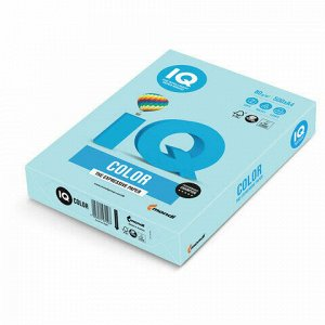 Бумага цветная IQ color, А4, 80 г/м2, 500 л., пастель, голубая, MB30