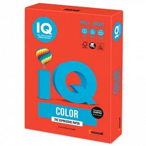 Бумага цветная IQ color, А4, 160 г/м2, 250 л., интенсив, кораллово-красная, CO44