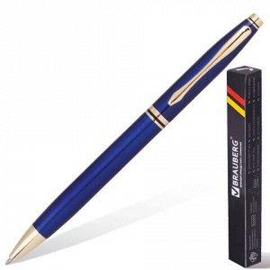 """Ручка подарочная шариковая BRAUBERG """"De Luxe Blue"""", корпус синий, узел 1 мм, линия письма 0,7 мм, синяя, 141412"""