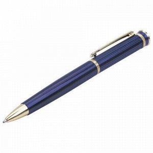 """Ручка подарочная шариковая BRAUBERG """"Perfect Blue"""", корпус синий, узел 1 мм, линия письма 0,7 мм, синяя, 141415"""