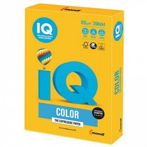 Бумага цветная IQ color, А4, 120 г/м2, 250 л., интенсив, солнечно-желтая, SY40