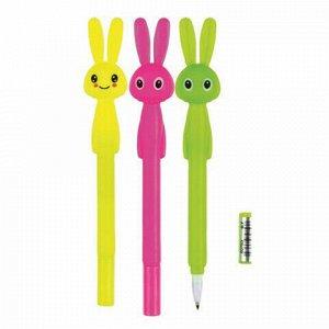 """Ручка фигурная шариковая CENTRUM """"Rabbit"""", СИНЯЯ, корпус ассорти, узел 0,7 мм, дисплей, 80753"""