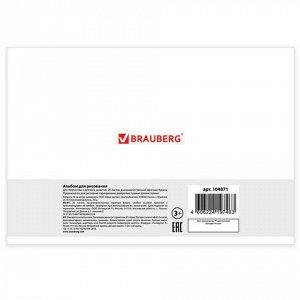"Альбом для рисования А4, 20 л., скоба, обложка картон, BRAUBERG, 200х283 мм, ""Природа"" (2 вида), 104871"
